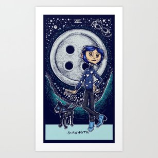 coraline-strength-tarot-card-color-prints